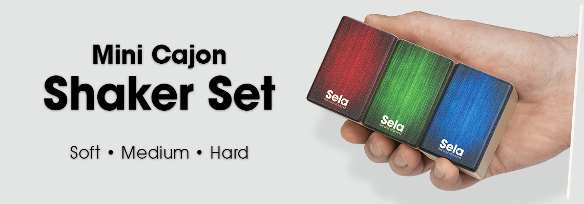 Sela Mini Cajon Shaker Set